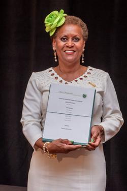 award green flower hat