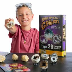 Break Open 20 Geodes with Kid