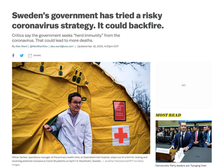 """FACT CHECK: Did Sweden avoid a lockdown to pursue a """"herd immunity"""" strategy?"""