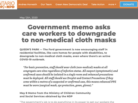 FACT CHECK: Did the Ontario government instruct care home staff to downgrade their masks?