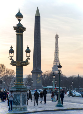 The Luxor Obelisk and Eiffel Tower