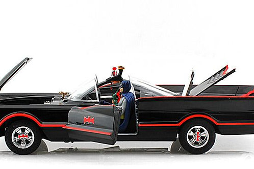Hot Wheels Elite Batmobile 1/18 Scale With Figures