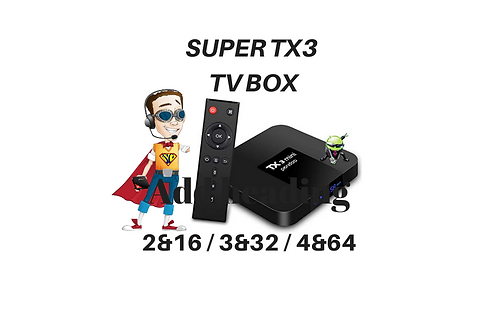 SUPER TX3 ANDROID TV BOX - WITH 500 CHANNELS & MOVIES