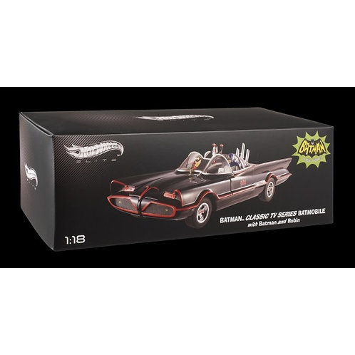 Hot Wheels Elite Batmobile 1/18 Scale With Figures