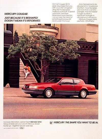 1980's Mercury Cougar Advertisement