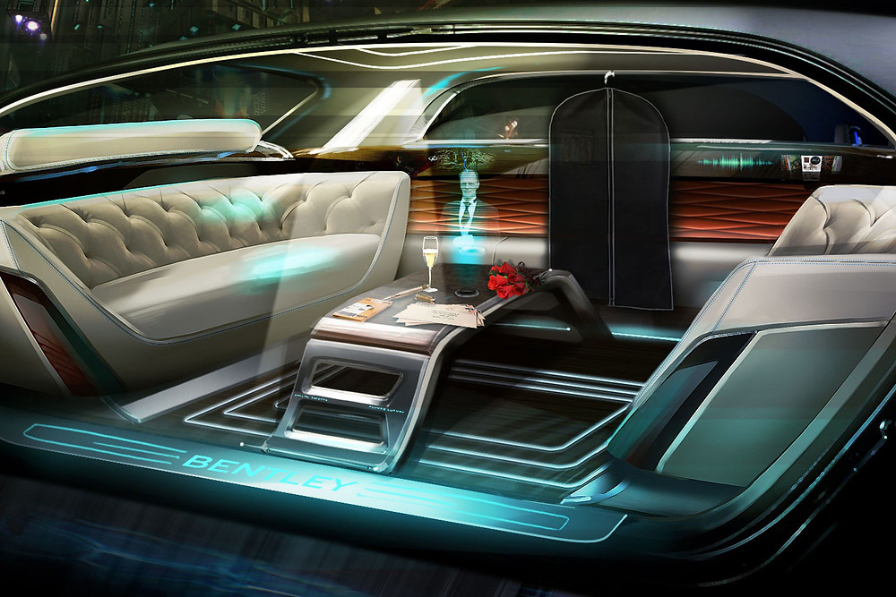 Holographic butlers in the Bentleys of the future - image credit - Bentley Motors