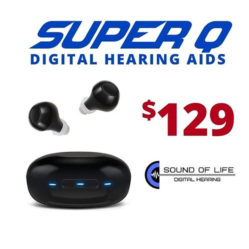 SUPER Q RHEARING AID AMP - SET OF 2 RECHARGEABLE