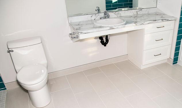 Owen Flooring - Ceramic tile in bathroom.