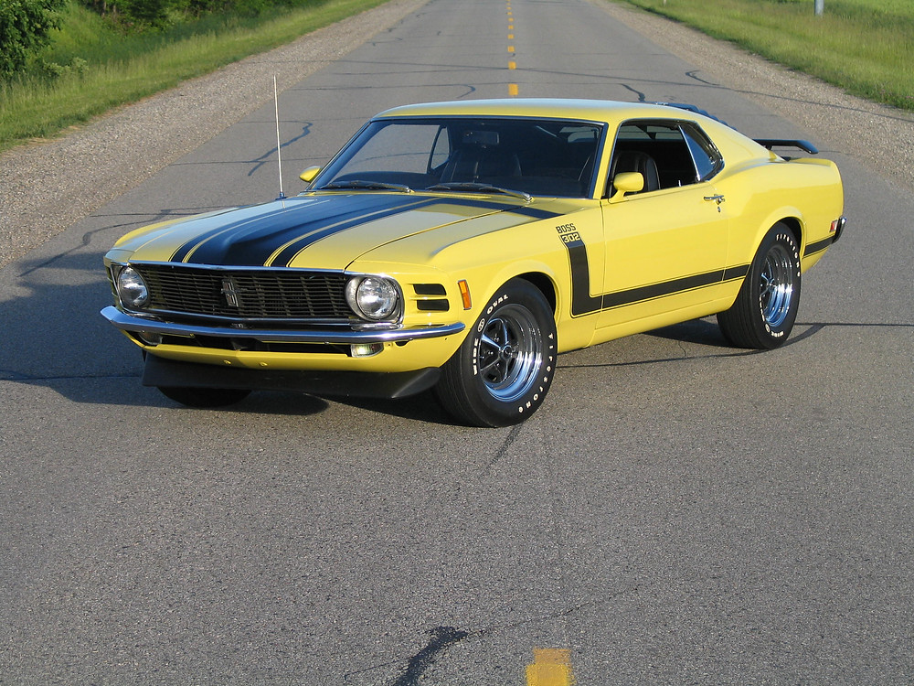 This 1970 Boss 302 Mustang is one of the Headline Vehicles for the Upcoming Maple City Classic Car Auction