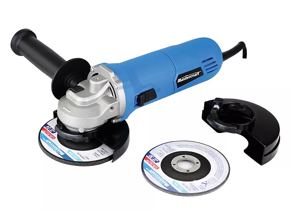 Mastercraft 6A Angle Grinder with Bonus Cut-Off Disc & Guard, 4.5-in