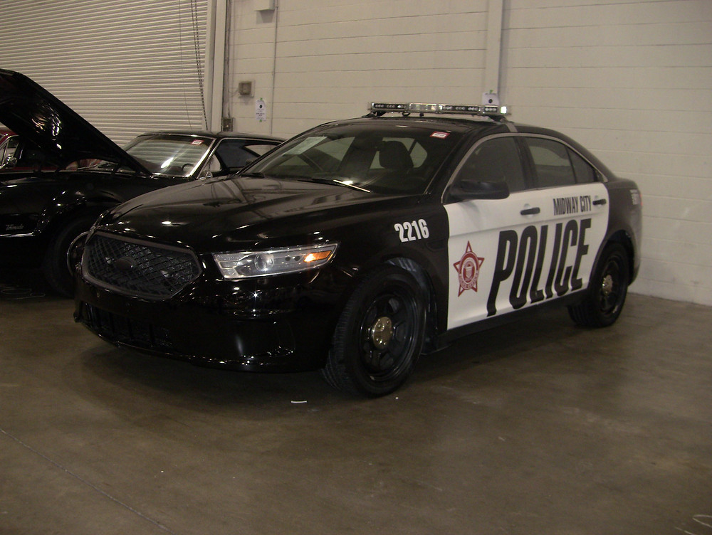 Former police cars used in movies were sold at the CCP Auctions sale in Toronto.