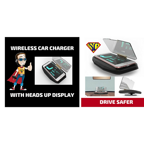 Wireless Phone Charger - Car Heads Up Display