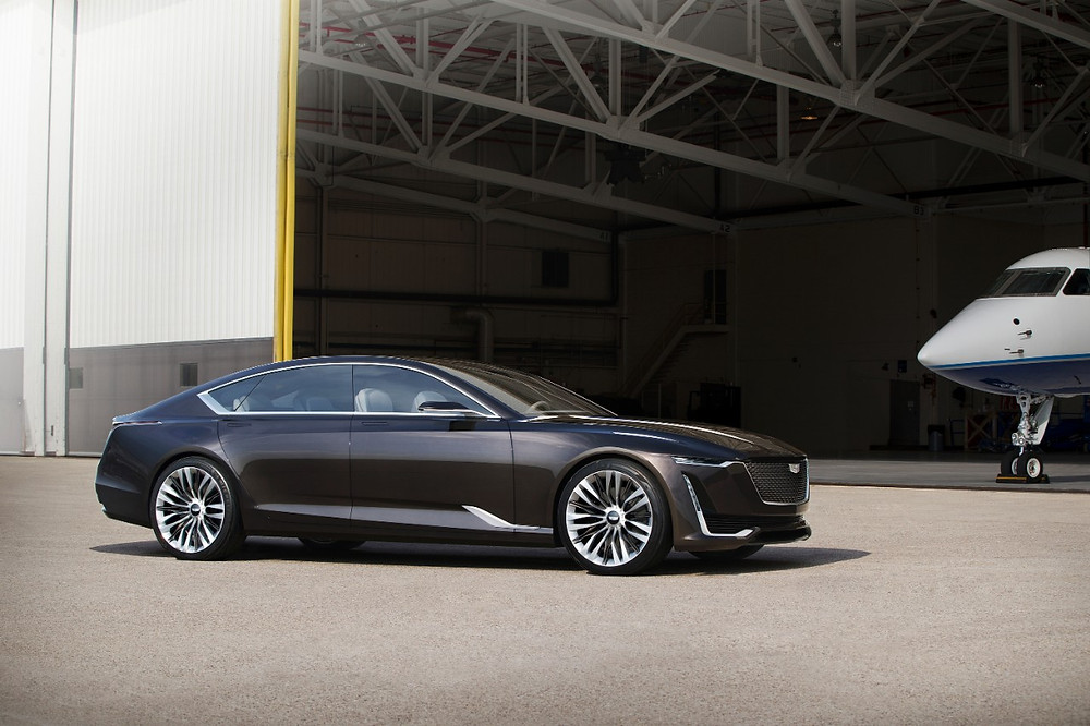 Cadillac Escala side view of concept car.