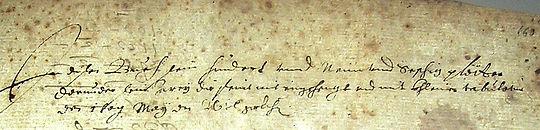 Barbarino Lute Book, German inscription