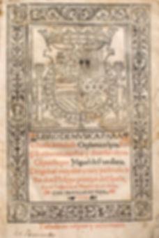 Miguel de Fuenllana,Orphenica Lyra(1554), title page