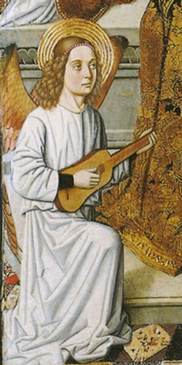 Maestro de Castelsardo, Angel playing a vihuela