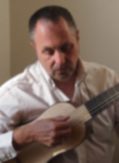 John Griffiths playing vihuela