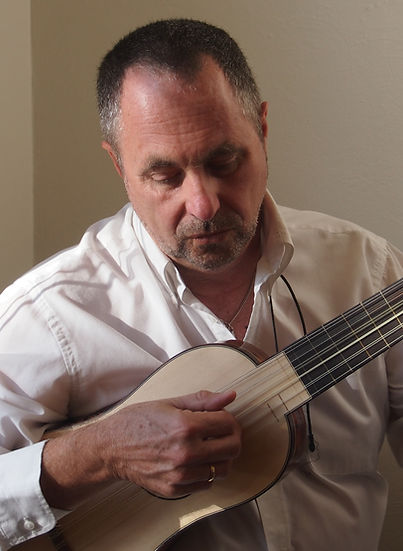 John Griffiths playing vihuela