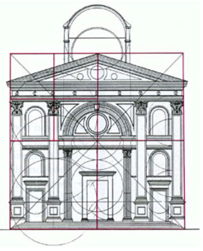 Basilica Sant' Andrea di Mantova and its proportions