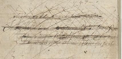 Barbarino Lute Book inscription in Italian