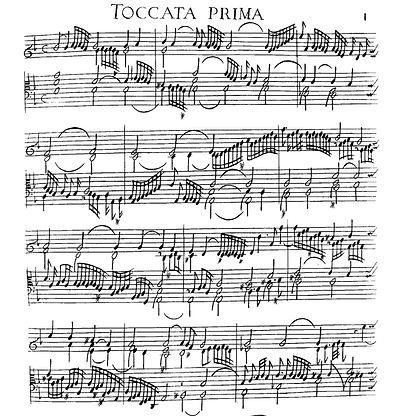 1637 Italian keyboard tablature — Girolamo Frescobaldi
