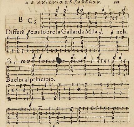 1578 Spanish keyboard tablature — Hernando de Cabezón