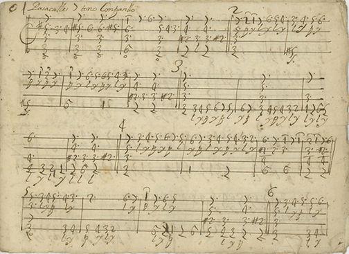 1700 Spanish harp tablature — anon