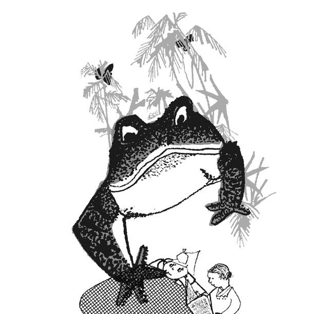 """連載エッセイさしえ [蝶の唆え] 奥本大三郎/著   小学館""""本の窓"""""""