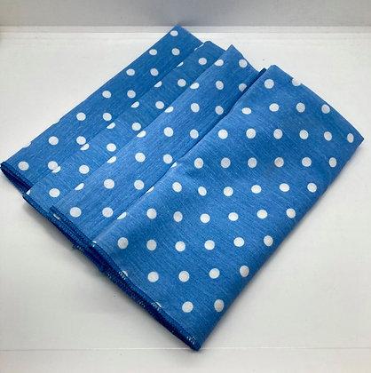 Blue Cotton Polka Dot Napkins