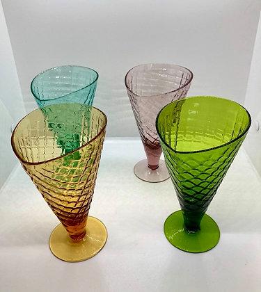 Bormioli Rocco Cornetto Colorful Glass Waffle Cups
