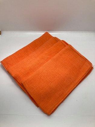 Bright Orange Cotton Linen Napkins