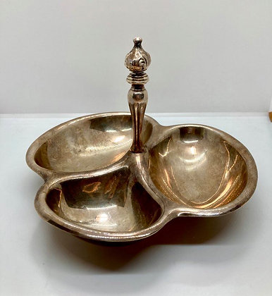 Silver 3 Bowl Relish Dish
