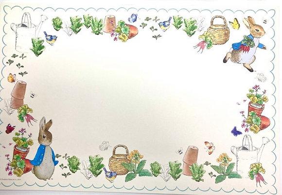 Peter Rabbit Paper Placemats