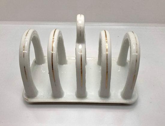 Vintage White Porcelain Toast Server