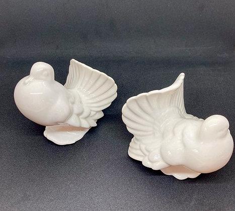 Ceramic Fancy White Birds