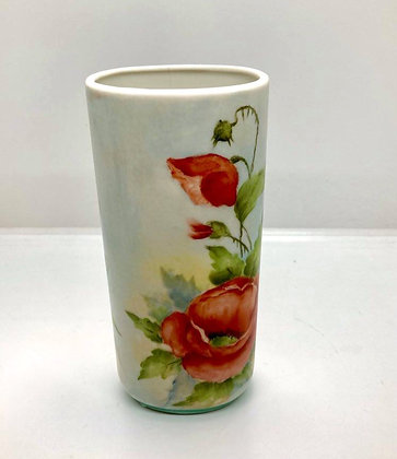 Classic Vintage Bavarian Hand Painted Floral Vase
