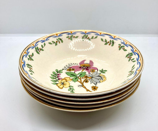 Vintage Floral Hand Painted Bowls