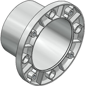 Pumpenträger Bellhousings Stahl steel Aluminium