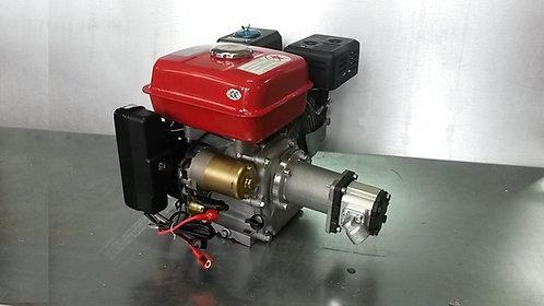 Hydraulikaggregat 6,5PS Benzin Motor mit E-Starter + Pumpe bis zu 22,5ltr/min