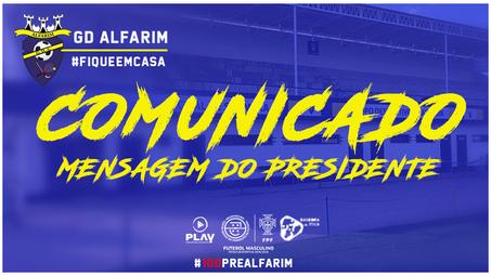 COMUNICADO   Mensagem do Presidente