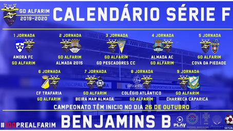 "FUTEBOL FORMAÇÃO | BENJAMINS B | CAMPEONATO DISTRITAL ""SERIE F"""