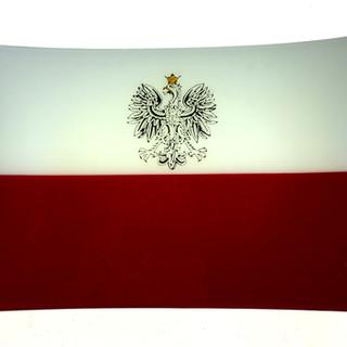 Polish Flag Plate