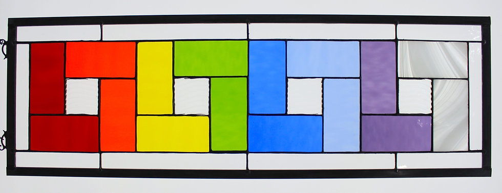 Rainbow Stained Glass Large Panel