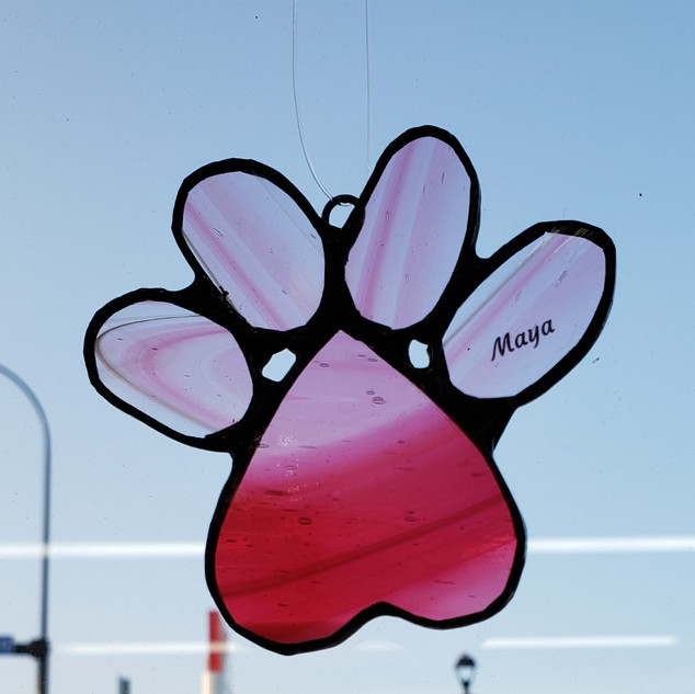 Custom Paw Print Pink Photo 2