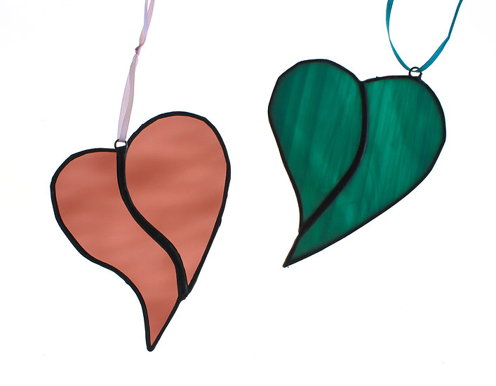 Stained Glass Heart (Two Halves)