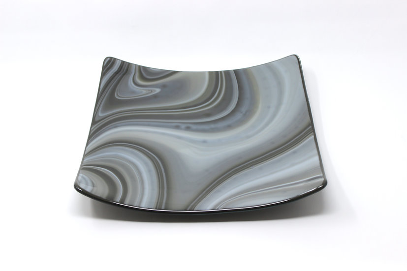 Shades of Grey Swoop Plate