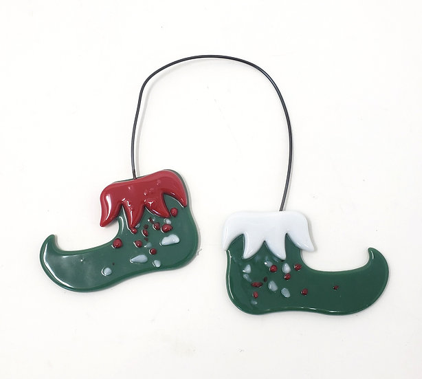 Elf Shoes Christmas Ornament