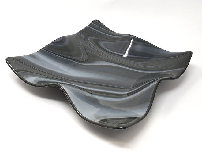 Shades of Grey Large Wave Bowl