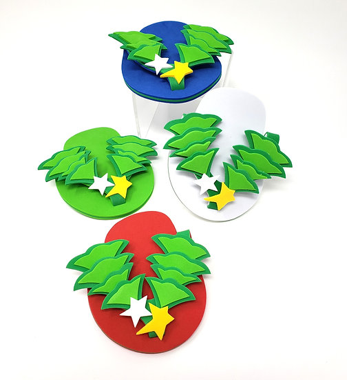 Drink Wear Holiday Attachable Flip Flop Coaster Set of Four