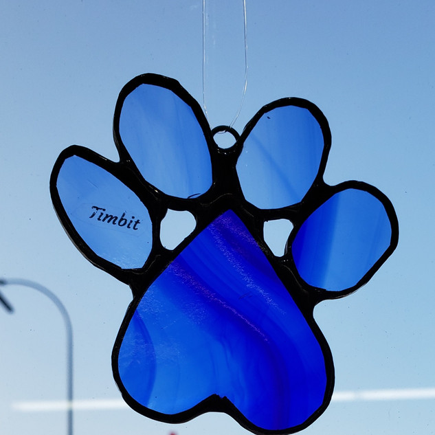 Custom Paw Print Blue Photo 2